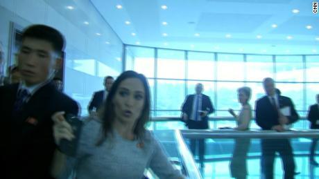 Stephanie Grisham injured by North Korean officials