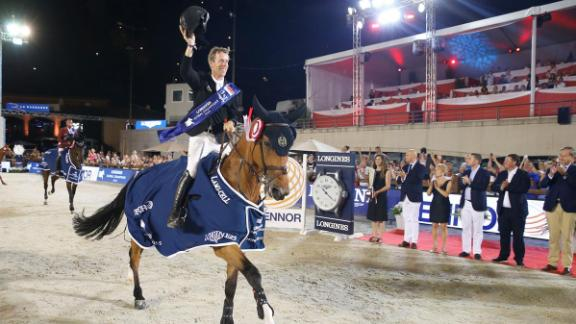 Dutchman Maikel van der Vleuten won the Monaco leg of the Longines Global Champions Tour riding Beauville Z.