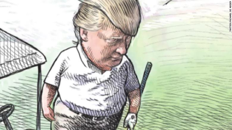 Trump Cartoon Canadian Cartoonist Michael De Adder Loses Job After
