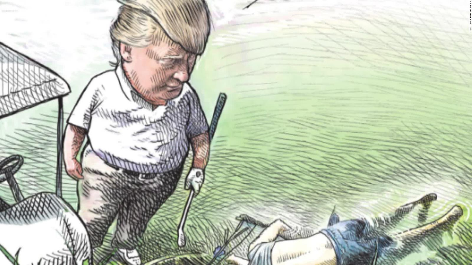 Cartoonist loses job after Trump illustration went viral
