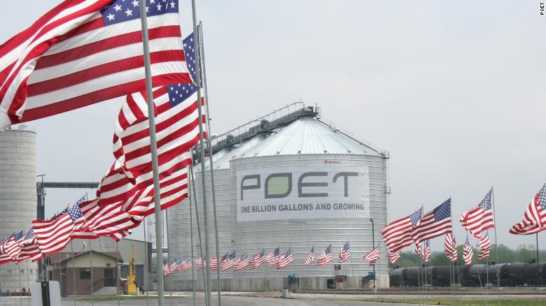 POET operates 28 biofuel refineries in seven states.