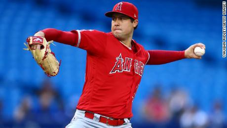 Tyler Skaggs' mother threw out the first pitch. Then his teammates threw a no-hitter