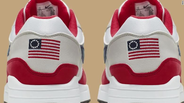 e758bf84756 Nike cancels shoe featuring 18th century American flag