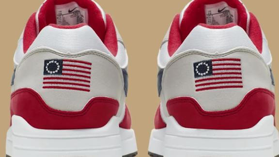 new style 2f7c6 f734c Nike Featuring Betsy Ross Flag Canceled After Backlash, Complaint From  Colin Kaepernick – CBS Sacramento
