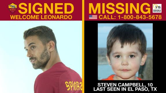 AS Roma launched initiative to help find missing children.