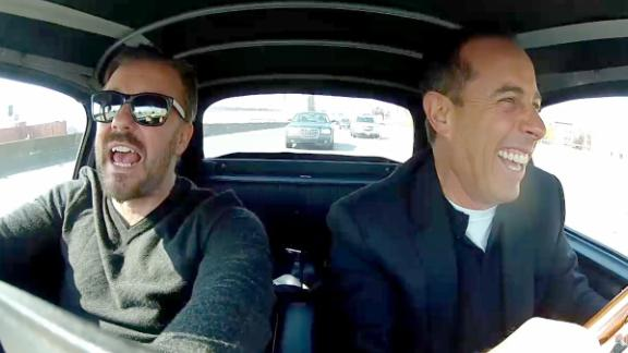 Ricky Gervais and Jerry Seinfeld in the new season of 'Comedians in Cars Getting Coffee'
