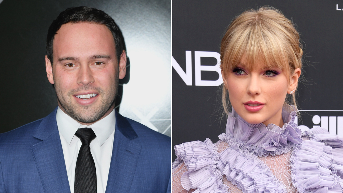 Scooter Braun's company holds the rights to Swift's first six albums.