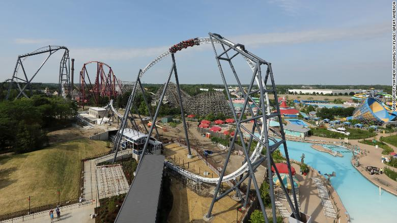 Maxx Force launch coaster: 0 to 78 mph in less than 2 seconds