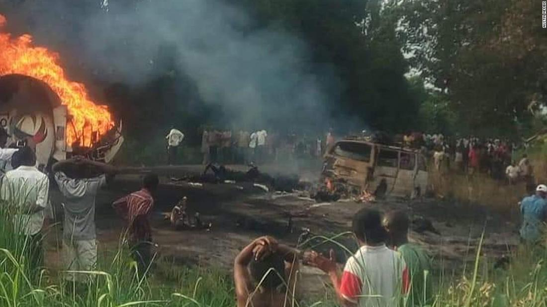 Nigeria oil tanker explosion kills at least 50 people