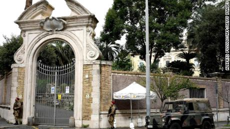 Bone fragments found during construction work at the Vatican Nunciature Embassy last year reignited speculation over Orlandi's disapperance.