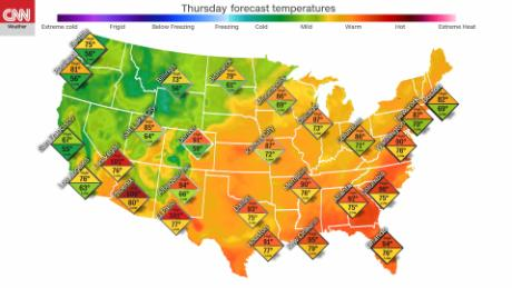 Fourth Of July Weather More Than A Third Of The Us Will Reach 90 - Us-humidity-map
