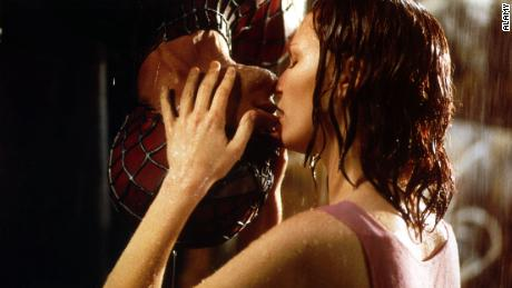 Sony produced its first & # 39; Spider-Man & # 39; Film - with this famous kiss - in 2002.