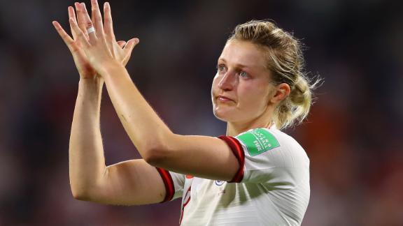 Ellen White, the joint top scorer at this World Cup, was in tears at the final whistle.