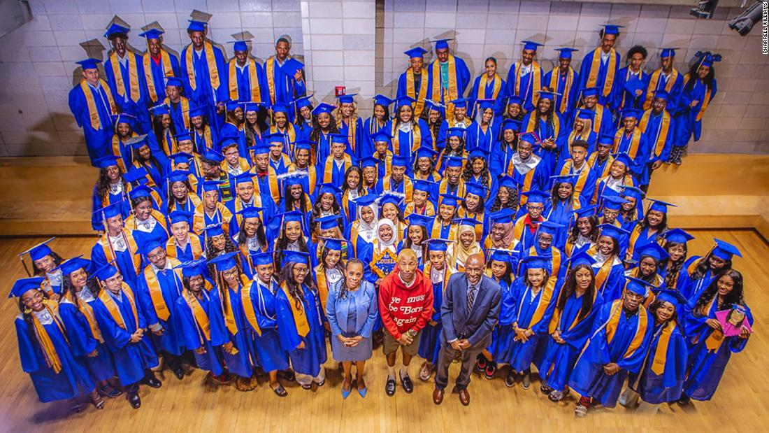 Pharrell Williams just offered internships to 114 Harlem high school grads