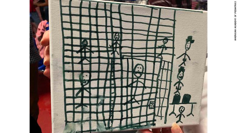 See children's drawings of Border Patrol facilities