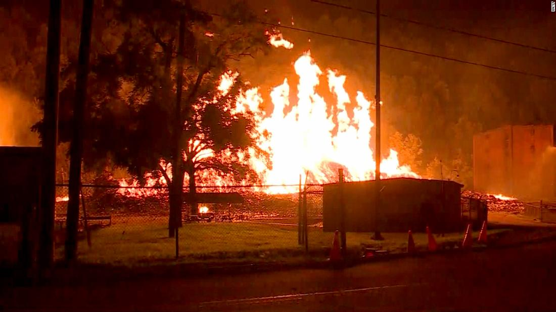 A Jim Beam warehouse filled with 45,000 barrels of bourbon caught fire