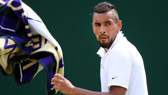 Nick Kyrgios will take on Rafael Nadal in the second round Thursday.