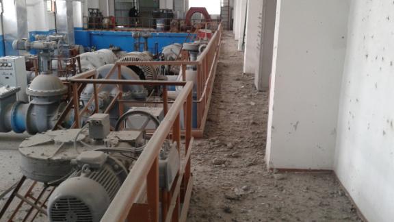 Fighting has damaged the Donetsk Filter Station in eastern Ukraine.