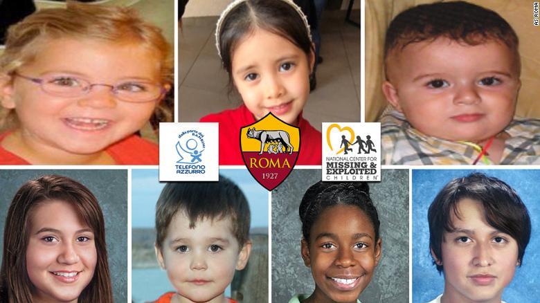 ผลการค้นหารูปภาพสำหรับ AS Roma uses new signings to highlight search for missing children