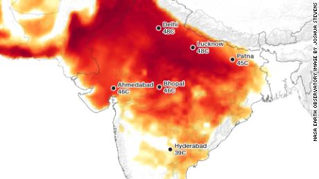 Are parts of India too hot for humans?