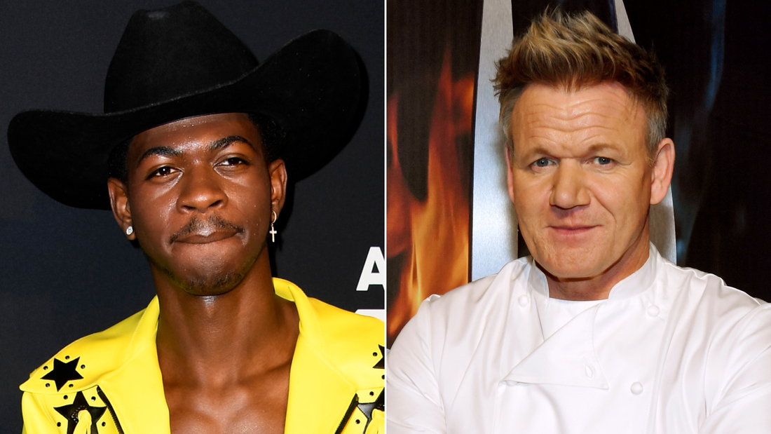 Lil Nas X asked famous British chef Gordon Ramsay to show him how a good panini gets made.