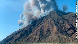 Volcanic eruptions rock Italian island of Stromboli, 1 hiker is killed