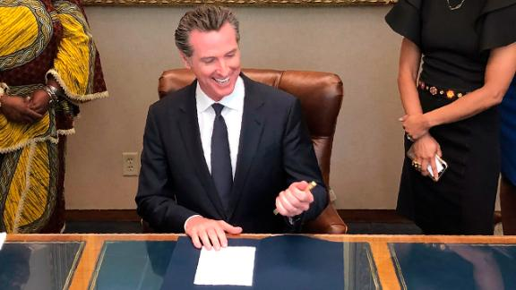 California Gov. Gavin Newsom signed a bill into law that bans workplace and school discrimination against people for wearing natural hair.