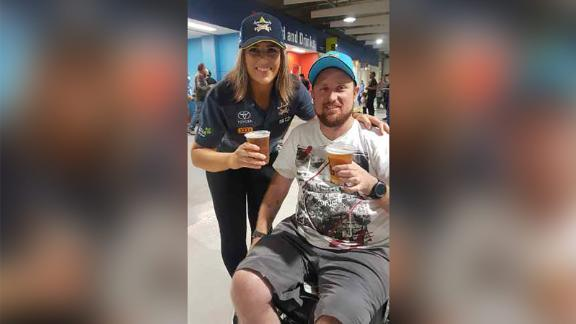 Australian Paul Robinson, 34, broke a vertebrae when he landed on his head in a dirt bike accident in 2015. It left him wheelchair bound with no movement from his chest down. He underwent innovative nerve surgery that restored function to his hands. Courtesy Paul Robinson