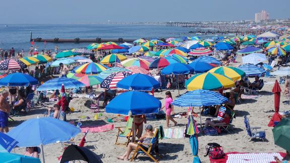There's no panic on the sands in New Jersey on July 4.