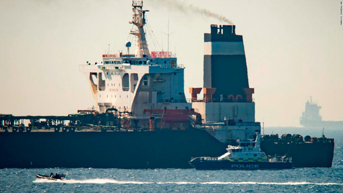 Iranian oil tanker at center of a standoff between the UK and Iran leaves Gibraltar