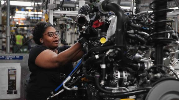 CHICAGO, ILLINOIS - JUNE 24: Workers assemble Ford vehicles at the Chicago Assembly Plant on June 24, 2019 in Chicago, Illinois. Ford recently invested $1 billion to upgrade the facility where they build the Ford Explorer, Police Interceptor Utility and the Lincoln Aviator.  (Photo by Scott Olson/Getty Images)