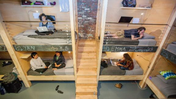 Most PodShare tenants, like the ones seen here in the downtown Los Angeles location, are in their late 20s and early 30s.
