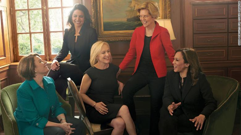 For a big new feature for Vogue, Amy Chozick spoke with five of the women running for president. Annie Leibovitz photographed them in a photo shoot.