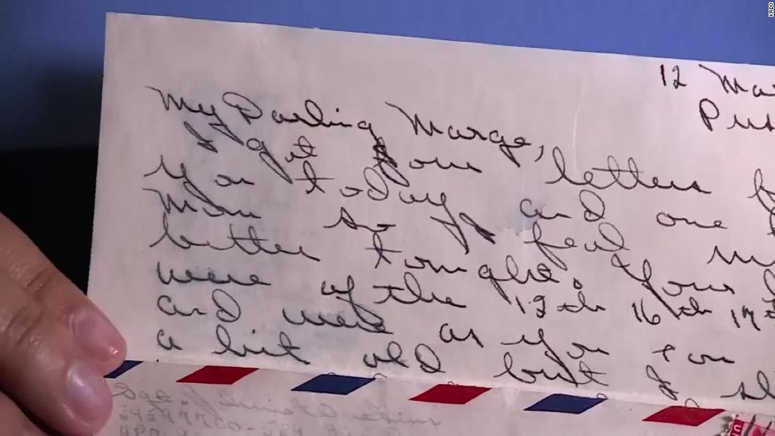 A 73-year-old letter written by a World War II soldier was returned to his son