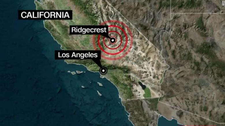 7 1 earthquake strikes Southern California