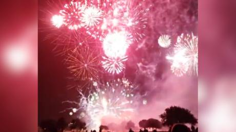 Firework show goes wrong after malfunction