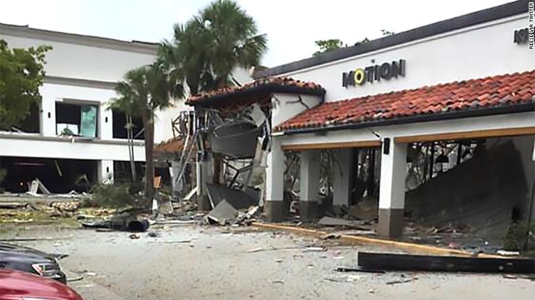 Aftermath of gas explosion in Plantation, Florida.