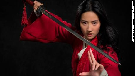 Yifei Liu plays Mulan in the live action remake of the Disney classic movie.