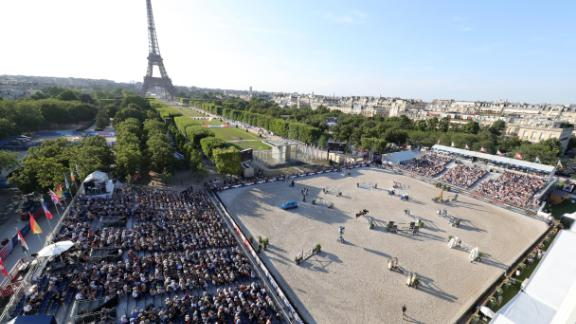 Paris: The Eiffel Tower and the Champ de Mars provided a stunning setting for round 11 of the Longines Global Champions Tour.