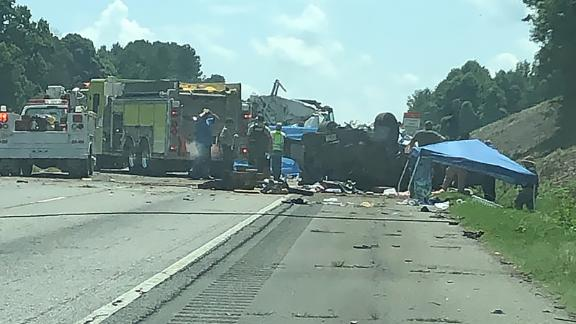 Seven people died in a crash on Interstate-85 in Georgia on Saturday.