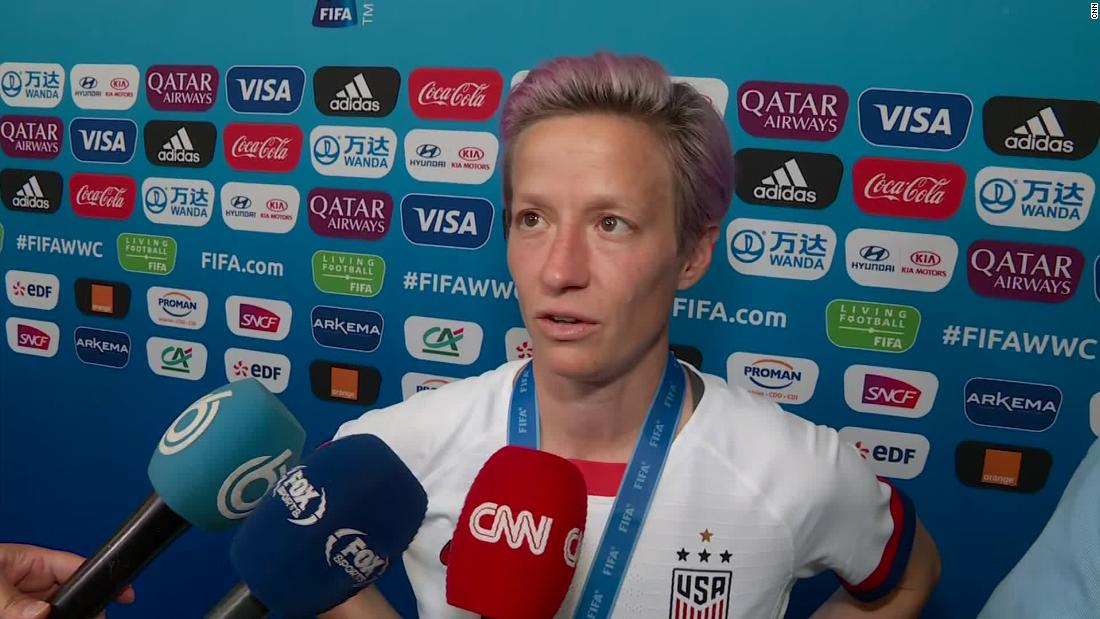 Megan Rapinoe: 'I'm down with' booing of FIFA boss