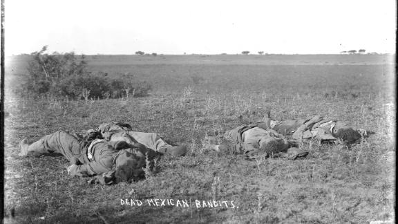 The Massacre era's racist rhetoric is captured in the handwritten caption of this historical photo.