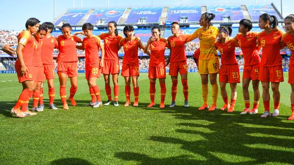 China lost to Italy during the Round of 16 Women's World Cup match.
