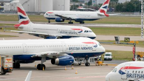 File photo dated 21/7/2017 of British Airways aircraft at London's Heathrow airport. The airline has said that it is set to be fined more than '183 million by the Information Commissioner's Office over a customer data breach. Issue date: Monday July 8, 2019. The data breach relates to the theft of customers' personal and financial information between August 21 2018 and September 5 2018 from the website ba.com and the airline's mobile app.