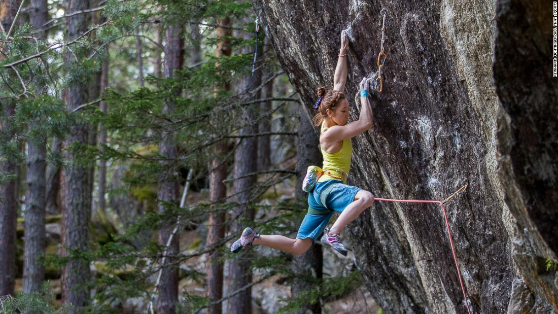 Kim has excelled in lead climbing, the sport climbing format that  requires athletes climb as high as possible on a 15-meter plus wall in six minutes using safety ropes, without reclimbs.