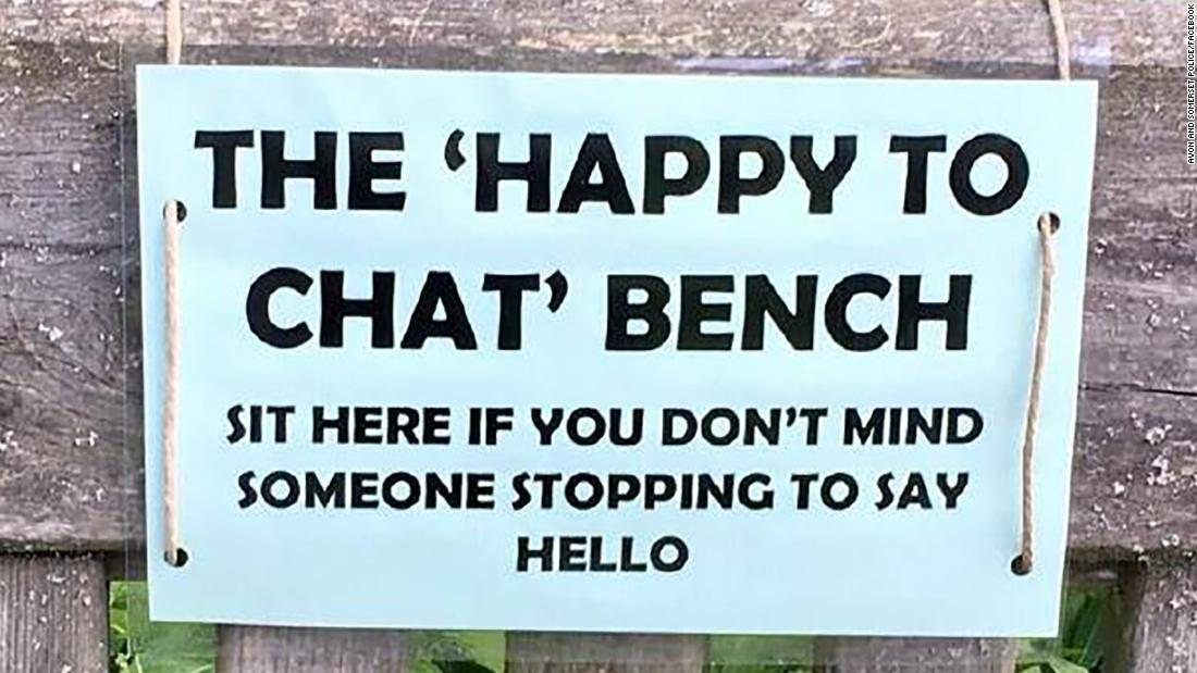 Police are tackling elderly isolation with benches created to get strangers to chat