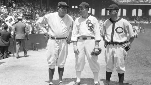 The starting American League outfield for the first All-Star Game: from left, Babe Ruth, Al Simmons and Earl Averill. The All-Star Game was the brainchild of Arch Ward, who was the sports editor for the Chicago Tribune. At the time, the United States was in the midst of the Great Depression and many baseball teams were struggling financially.