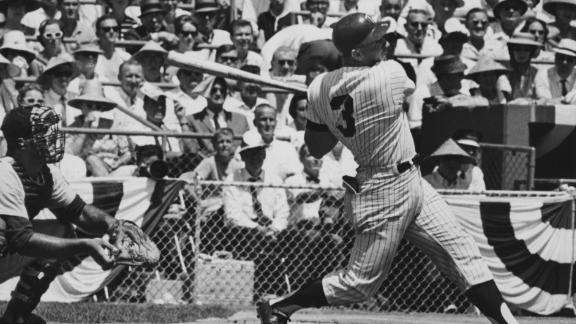 Harmon Killebrew hits a game-tying home run for the American League in 1965.