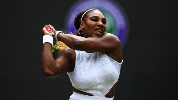 Serena Williams is through to the quarterfinals of Wimbledon after beating Carla Suarez Navarro.