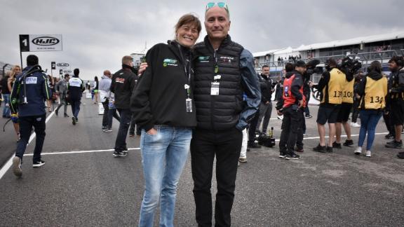 Energica CEO Livia Cevolini and CFO Andrea Vezzani.
